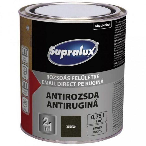 Supralux Antirozsda kalapácslakk szürke 0,75L