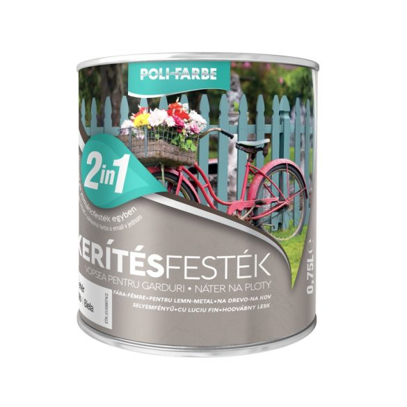 Poli-Farbe Kerítésfesték Fehér 0,75L
