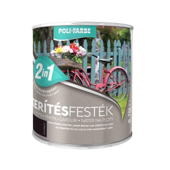 Poli-Farbe Kerítésfesték Fekete 0,75L