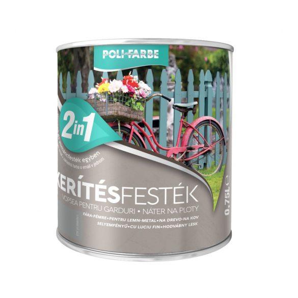 Poli-Farbe Kerítésfesték Szürke 0,75L