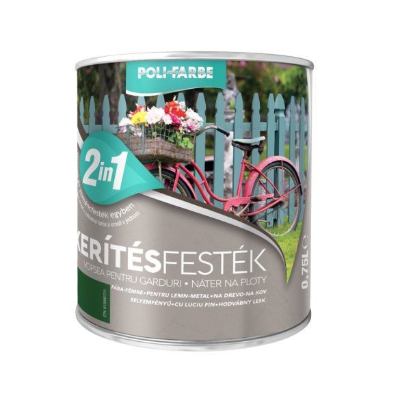 Poli-Farbe Kerítésfesték Zöld 0,75L