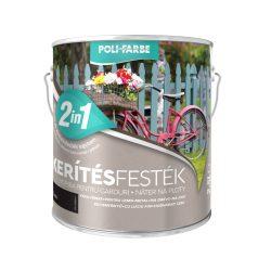 Poli-Farbe Kerítésfesték Fekete 2,5L