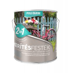 Poli-Farbe Kerítésfesték Szürke 2,5L