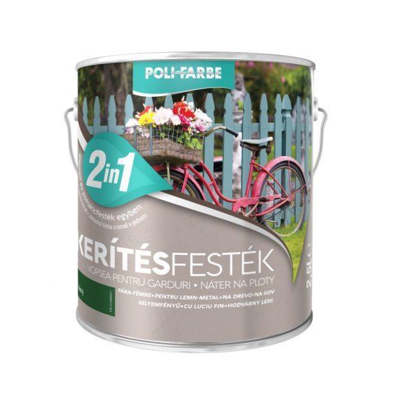 Poli-Farbe Kerítésfesték Zöld 2,5L