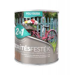 Poli-Farbe Kerítésfesték Kávé 0,75L