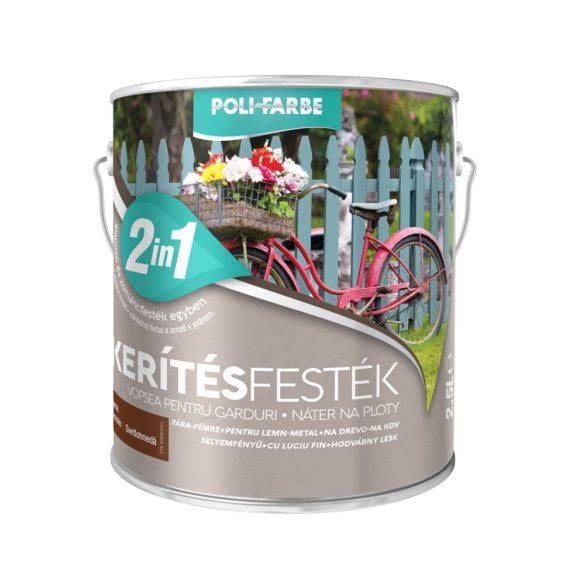 Poli-Farbe Kerítésfesték Világosbarna 2,5L