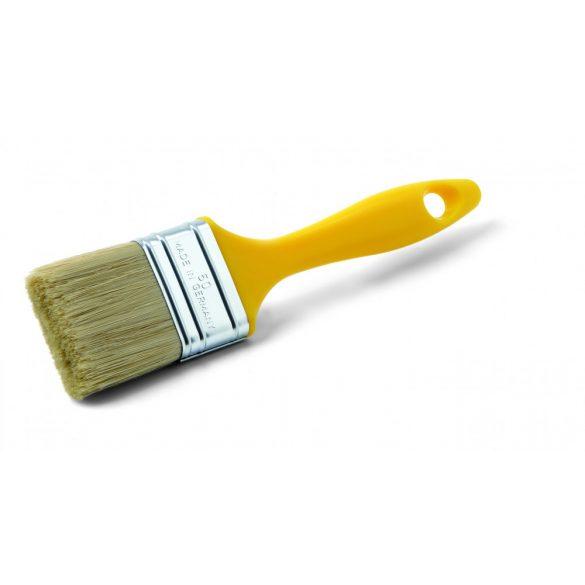 Schuller Mercato M 80mm, laposecset, kevert sörte, sárga műanyag nyél, monoblokk